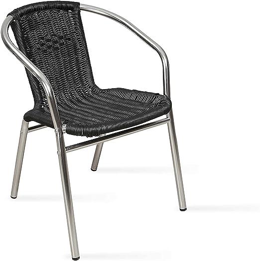 Boutique jardín – silla de jardín (aluminio y resina: Amazon.es: Jardín