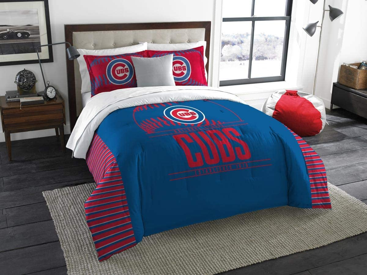 Northwest MLB Chicago Cubs Comforter Set with 2 Shams Multicolor One Size