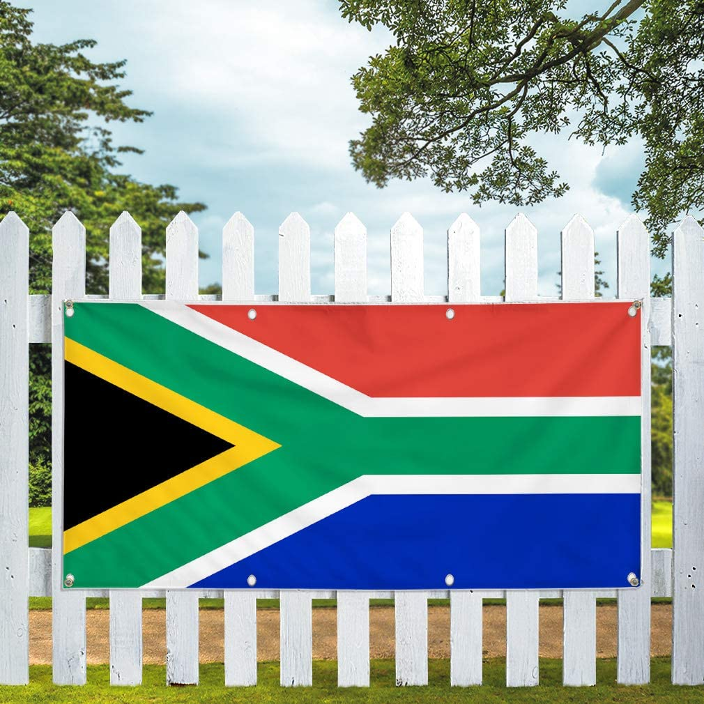 Multiple Sizes Available Vinyl Banner Sign South Africa Black Yellow Green White Marketing Advertising Green 48inx96in 8 Grommets One Banner