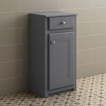 Enjoyable Grey Bathroom Furniture Storage Cabinet Floor Standing Cupboard Drawer Unit Home Interior And Landscaping Oversignezvosmurscom