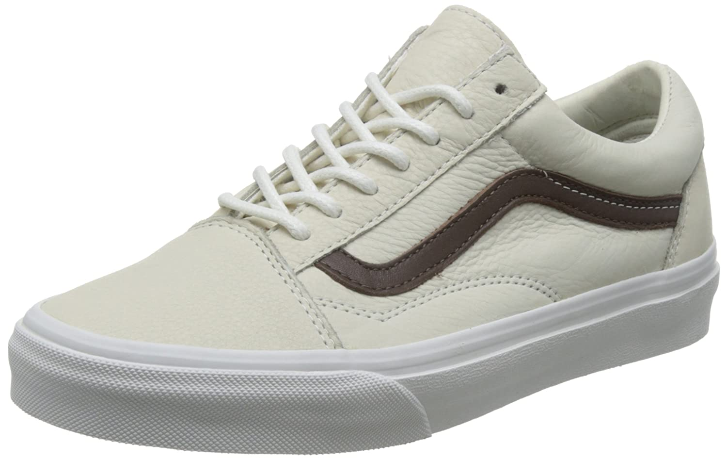 Vans Unisex Old Skool Classic Skate Shoes B01DXA6Y9O 6.5 D(M) US|Blanc De Blanc / Potting Soil
