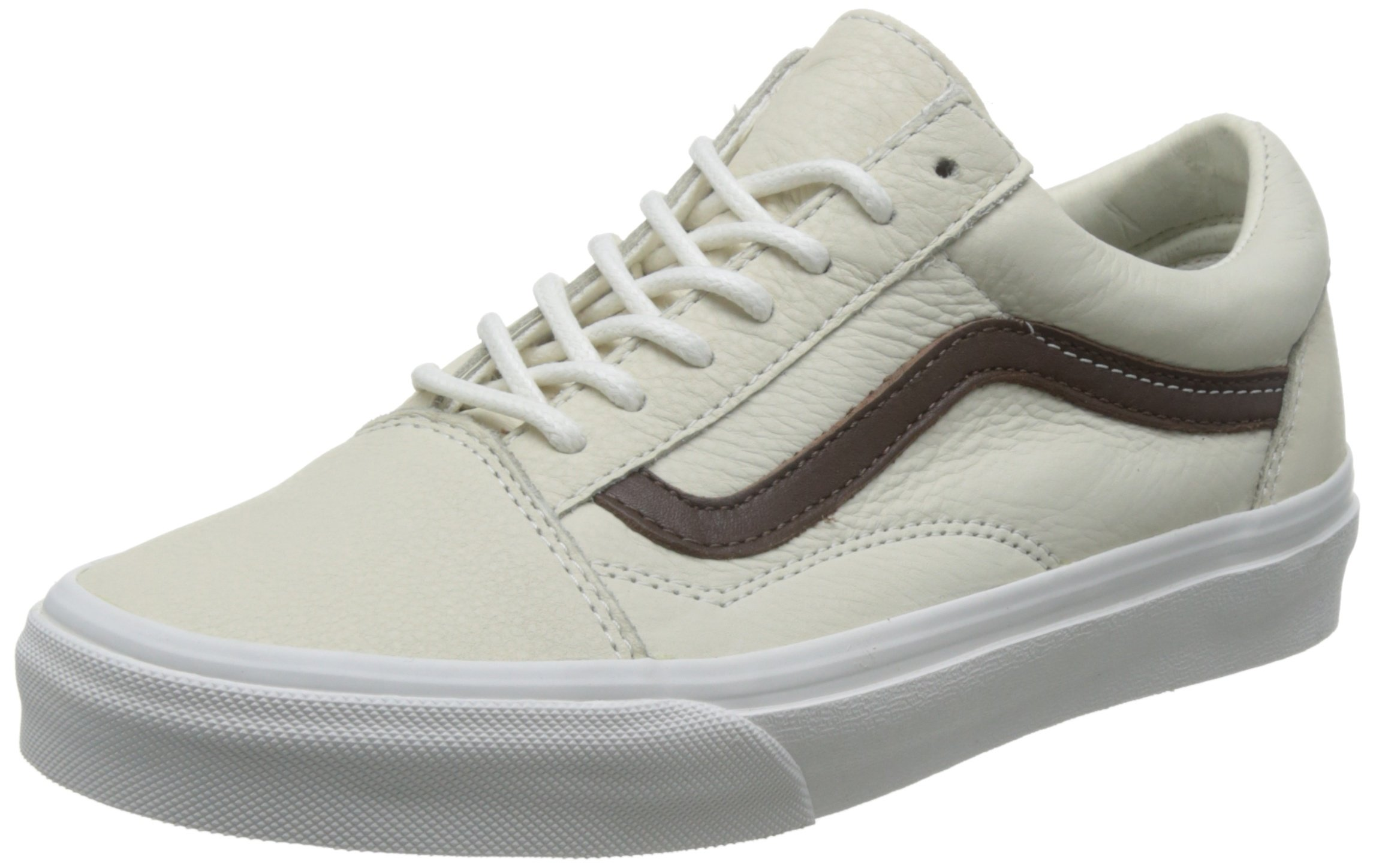 95a0534dcc Galleon - Vans Old Skool Leather Blanc De Blanc Men s Classic Skate Shoes  Size 8