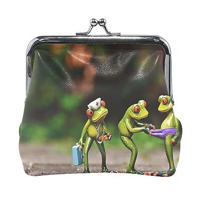 Amazon.com: Monedero de piel de alta calidad con tres ranas ...