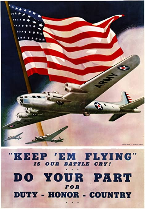WAR WWII USA AMERICA CALLING EAGLE Picture Military Canvas art Prints