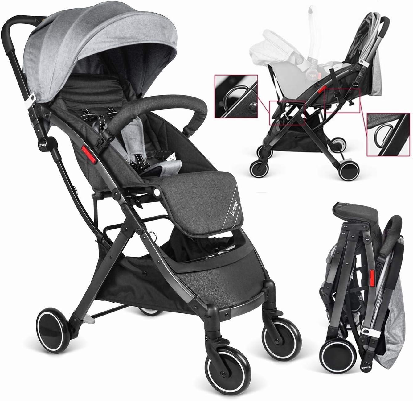 Besrey Silla de paseo Ligera bebe, carrito bebe ligero cochecito para viaje plegable carritos de bebe 3 años