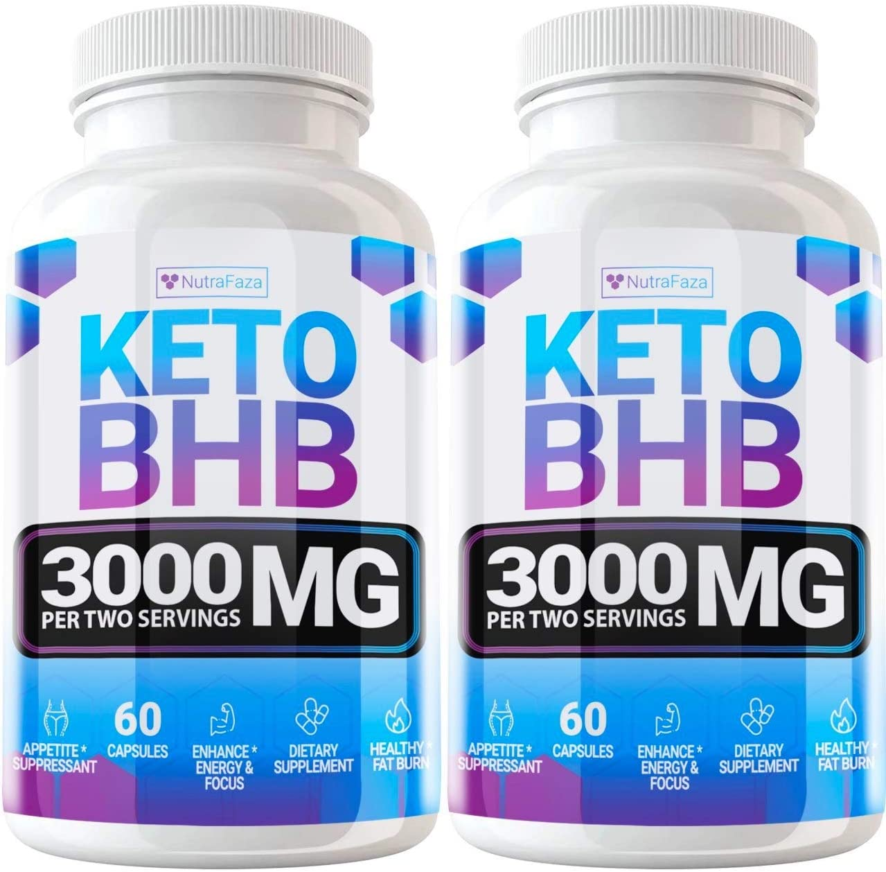 Keto Pills – 2 Pack 120 Capsules – 5X Potent – Advanced Keto Burn Diet Pills – Best Exogenous Ketones BHB Supplement for Women and Men – Boost Energy and Metabolism – 100 Vegan