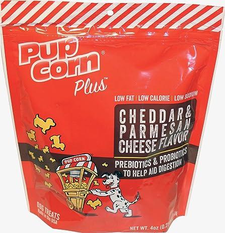 Pupcorn Plus Parmesan & Cheddar Cheese Flavor with Prebiotics & Probiotics,  ...