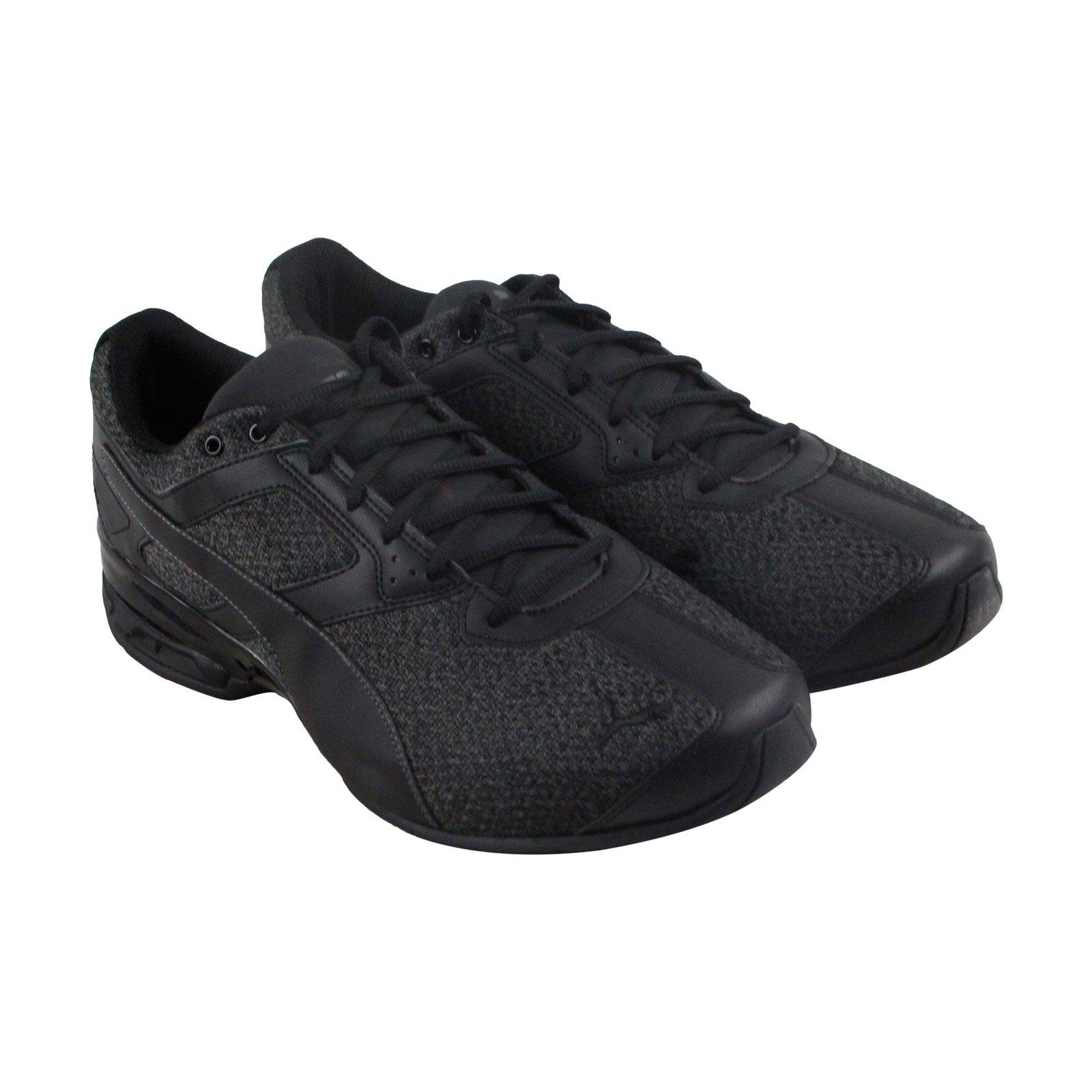 PUMA Men's Tazon 6 Knit Sneaker, Black Asphalt,9.5 M US