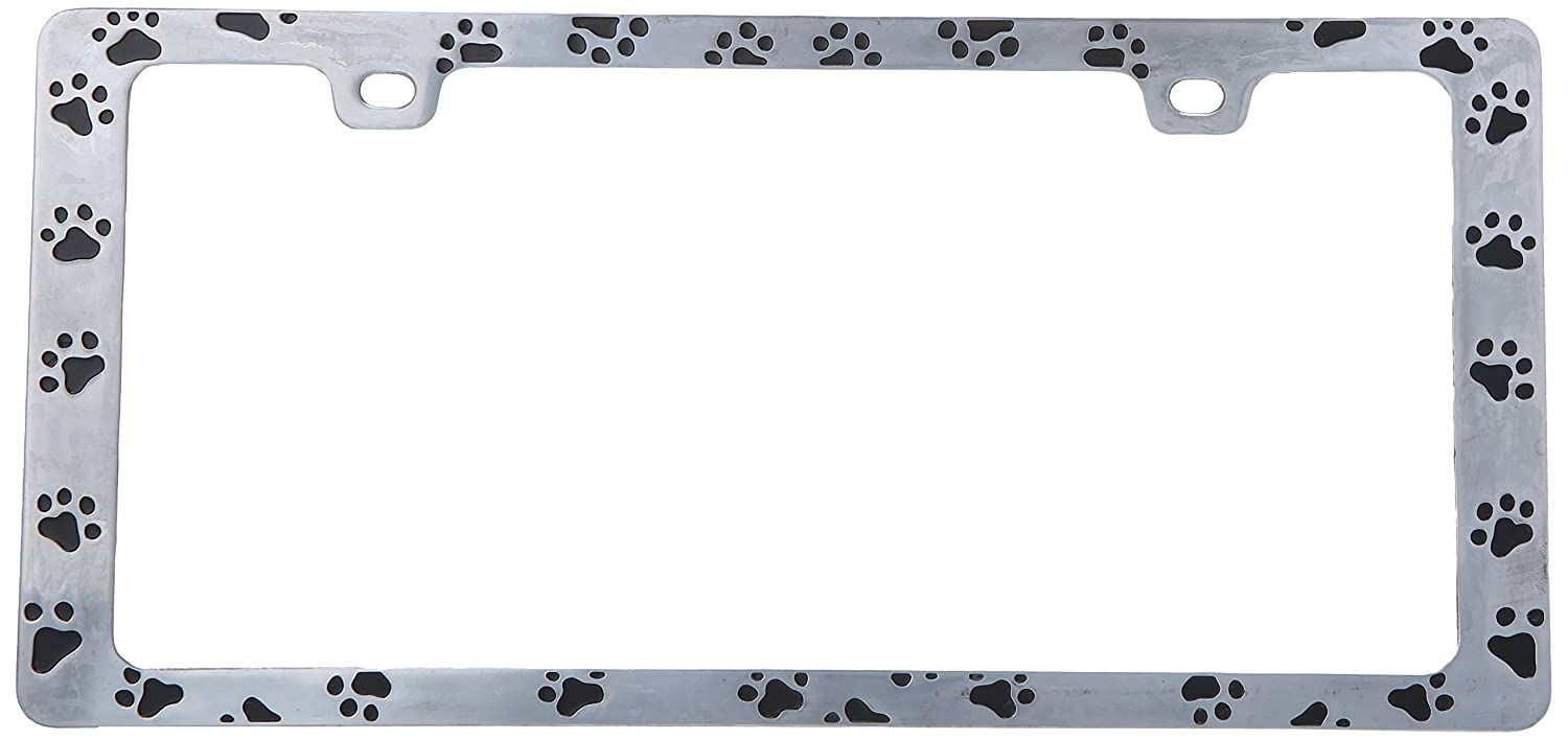 Bell Automotive 22-1-46104-8 Universal Black Paw Print Design License Plate Frame