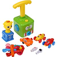 Boxiki kids Balloon Launcher & Powered Car Toy Set | Balloons with Assorted Colors | Balloon Air Pump | Balloons for…