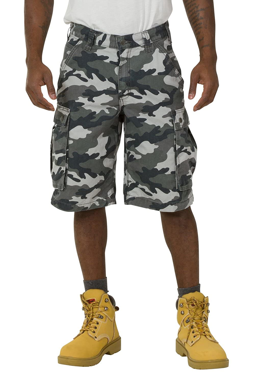 Carhartt Rugged Cargo Camo Shorts - Gris Pantalones Cortos Hombres Trabajo 10027 CS.100279.071