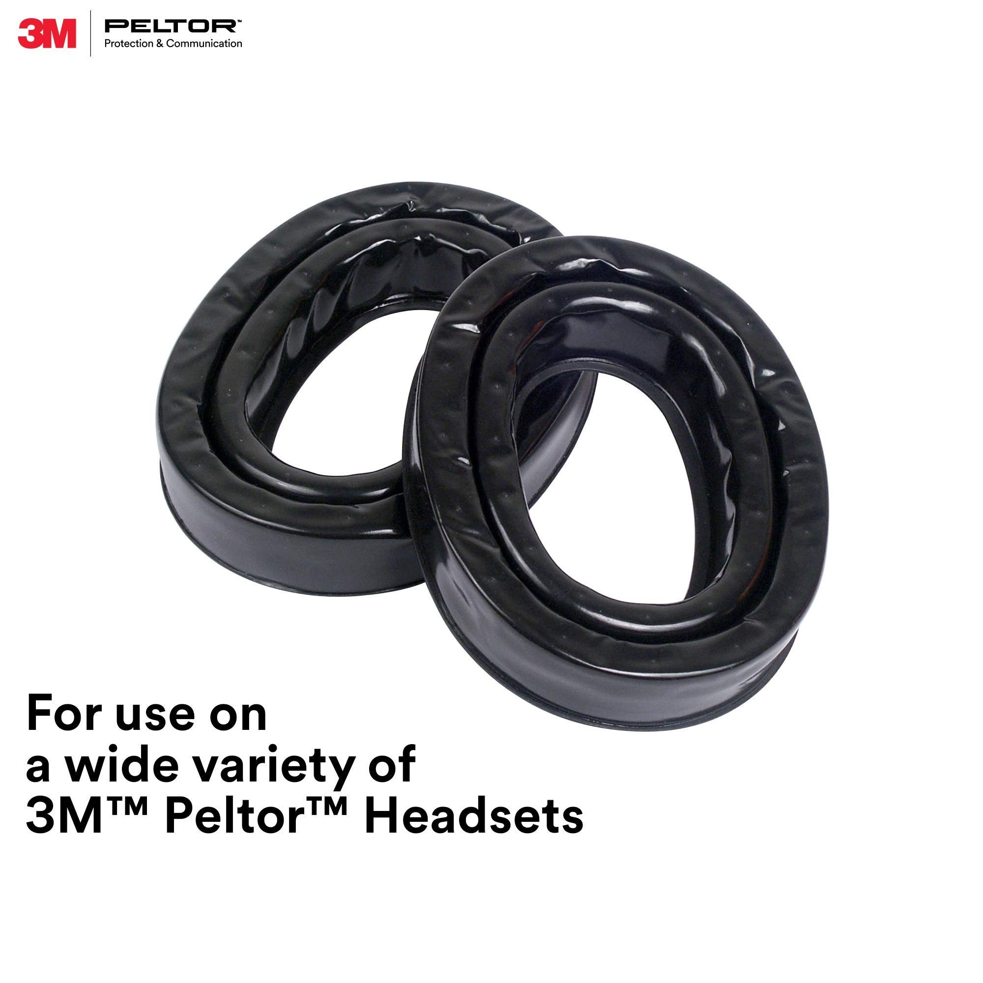 3M Personal Protective Equipment PELTOR Camelback Gel Sealing Rings HY80, Comfort Replacement Earmuff Cushions, Black by 3M Personal Protective Equipment