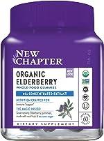 New Chapter Elderberry Gummies - Organic Elderberry Whole-Food Gummies for Immune