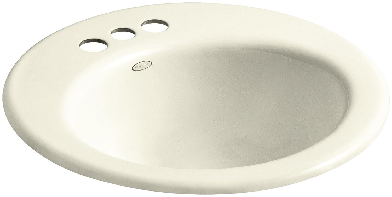 Basalt KOHLER K-2917-4-FT Radiant Drop-In Bathroom Sink with 4 Centerset Faucet Holes