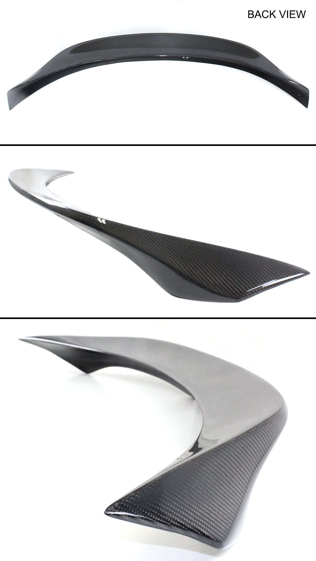 Cuztom Tuning for 2014-2019 Infiniti Q50 HIGHKICK Carbon Fiber Duckbill Trunk LID Spoiler Wing