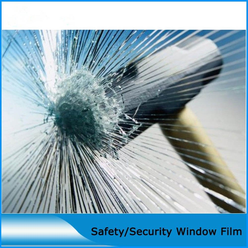 [HOHO] 8Mil Clear Safety and Security Window Film UV Protection Shatterproof Film,60'' Wide x 100ft Roll
