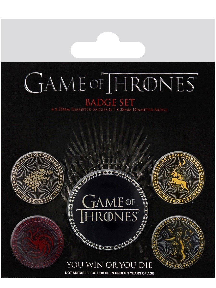 Pacco Di Spille In Latta Four Great Houses Game Of Thrones (Multicolore) 10 x 12.5 x 1.3 cm Ambrosiana BP80527