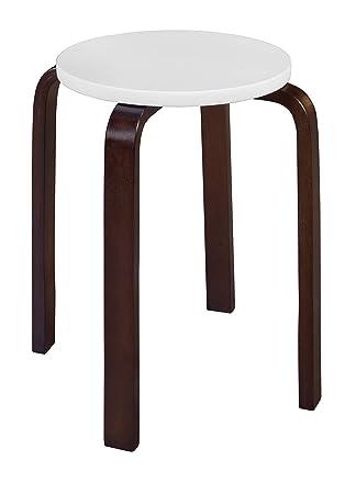 Surprising Niche 2010Mwbg Mia Bentwood Stool Mocha Walnut Beige Ncnpc Chair Design For Home Ncnpcorg