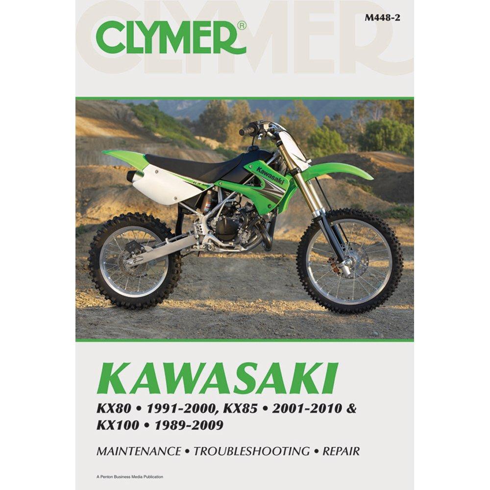 Amazon.com: Clymer Kawasaki KX80 (1991-2000) KX85 (2001-2010 & KX100  (1989-2009): Automotive