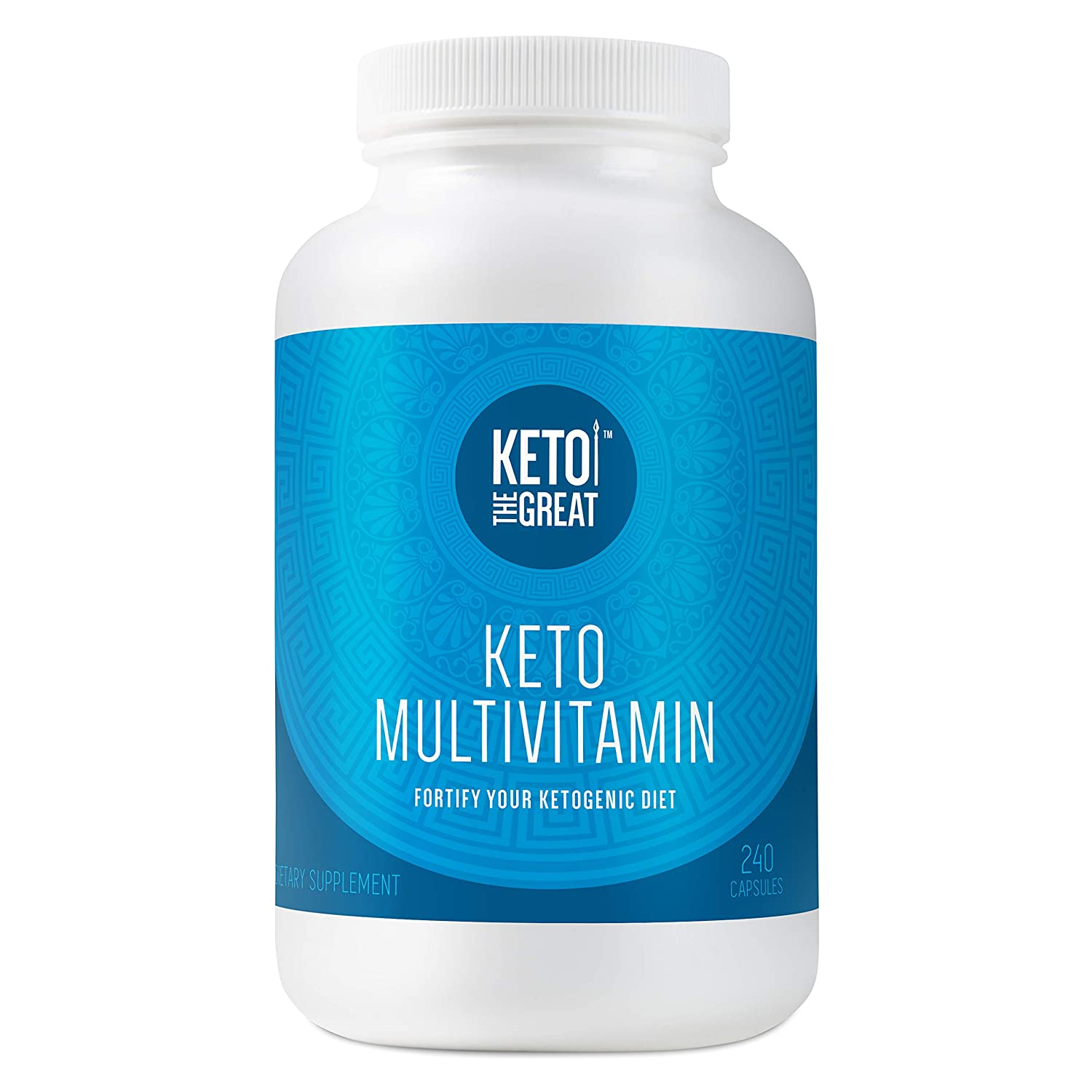 Keto the Great – Keto Multivitamin for Men and Women – Daily Vitamin and Mineral Supplement Pills for Ketogenic Diet – with Key Vitamins, Electrolytes, MCT and BHB to Help Ketosis, 240 Capsules