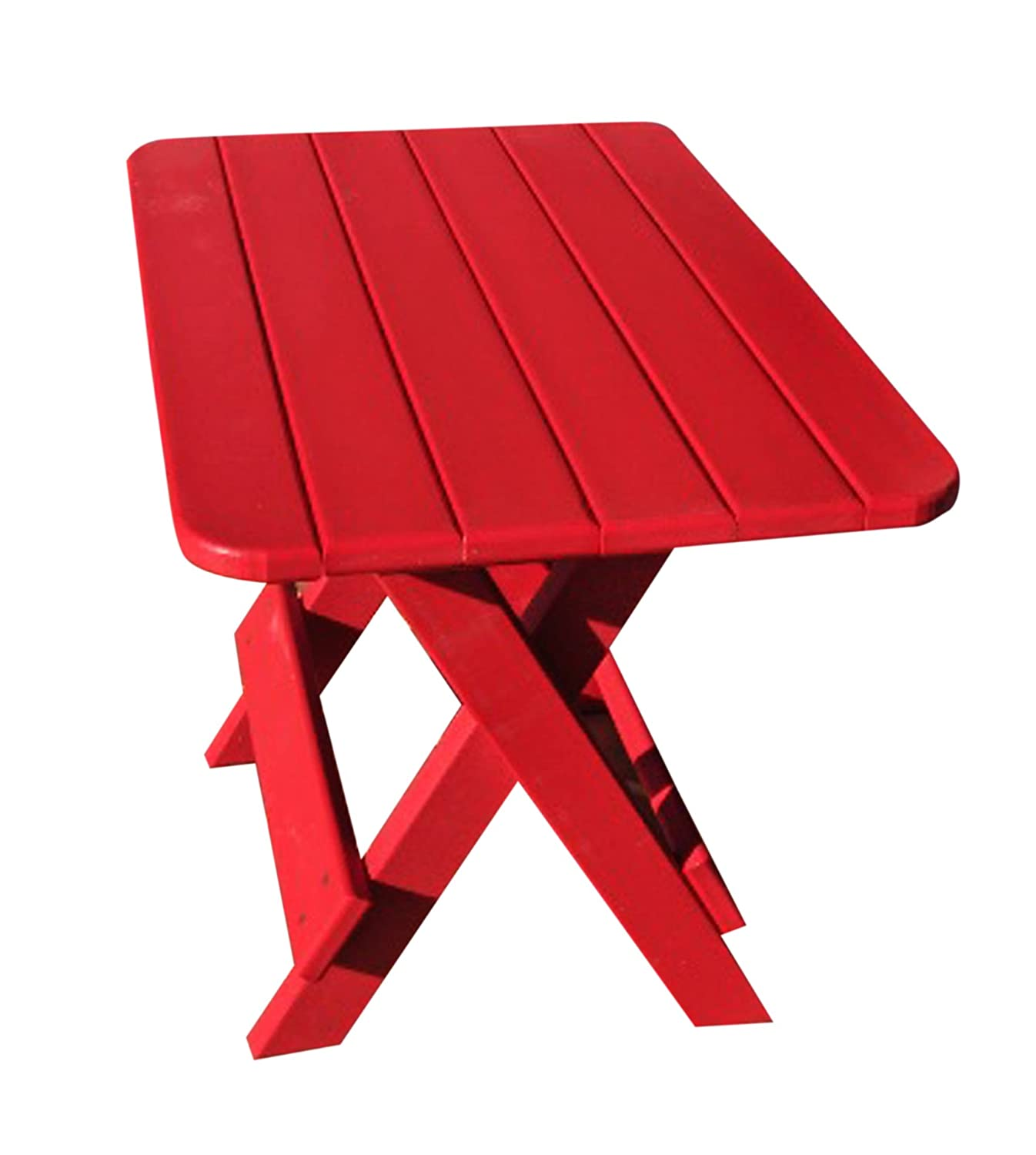Amazon.com : Phat Tommy Recycled Poly Resin Folding Side Table   Durable U0026  Eco Friendly Patio Furniture Matches Adirondack : Camping Tables : Patio,  ...