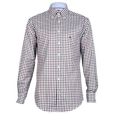 FYNCH-HATTON herren Freizeit Hemd Shirt Knitwear Combi Check Button-Down  Kragen kariert ( 580e9c0f8a