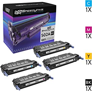 Speedy Inks Remanufactured Toner Cartridge Replacement for HP 502A & 501A (1 Black, 1 Cyan, 1 Magenta, 1 Yellow, 4-Pack)