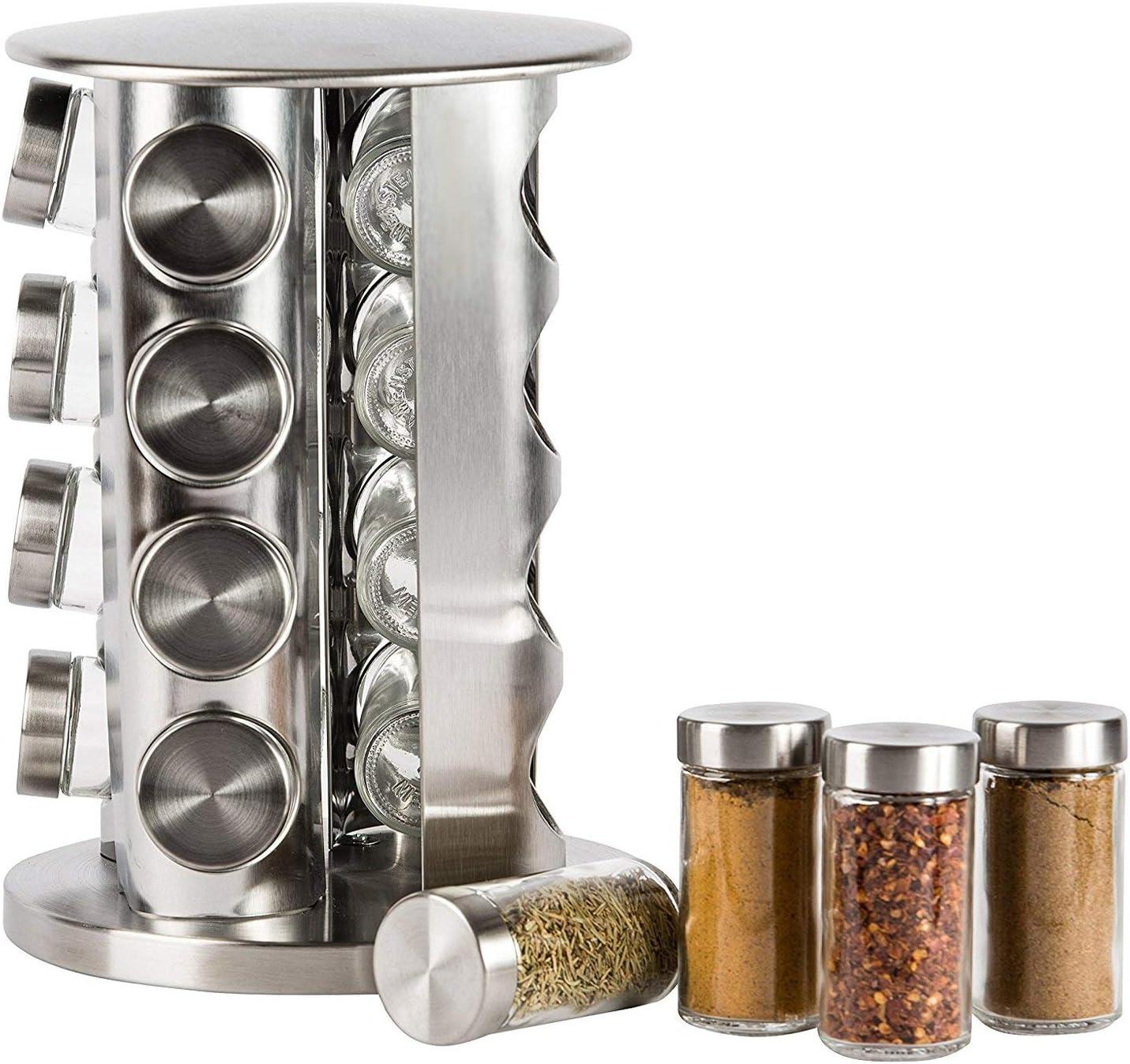 Estantes de cocina especiero de acero inoxidable soporte especias de pie para ahorrar espacio Uso multifuncional para ba/ño y estudio-2 Niveles C