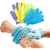 Lukzer 1 Pair Bath Gloves Spa Massage Body Scrubber Cleaner/Nylon Exfoliating Multi-Purpose Gloves (Multi-Color)