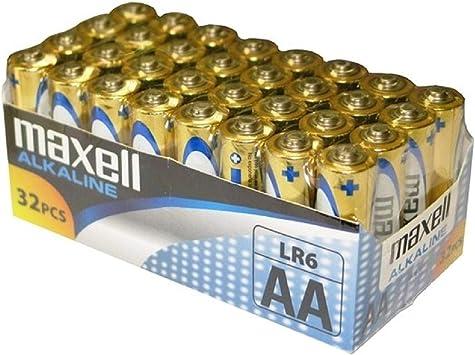 Comprar Maxell LR6 - Pack de 32 pilas alcalinas AA, color dorado