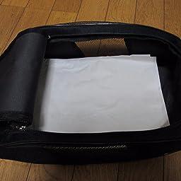 Amazon Archange シンプルシューズバッグ ブラック トラベル用シューズケース