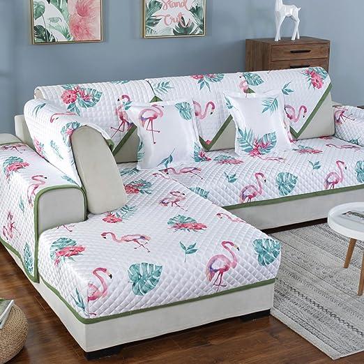 QINQIN Planta Flores Funda para sofá,Simple Moda Fresca ...