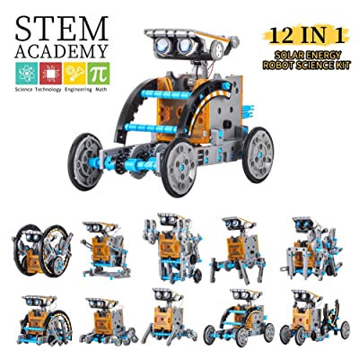 HahaGo Solar Robot Kit STEM Toys 12 in 1 Educational Building Toy DIY Science Experiment Kits Coding Robots Engineering 190 Pieces Set Powered by The Sun for Kids Children Boys Girls Gifts: Toys & Games
