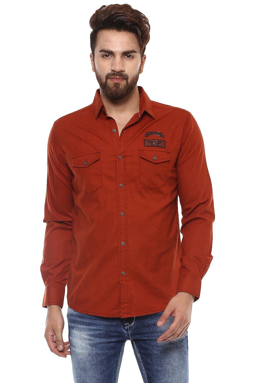 977057b1e40 Mufti Mens Red Slim Fit Casual Shirts