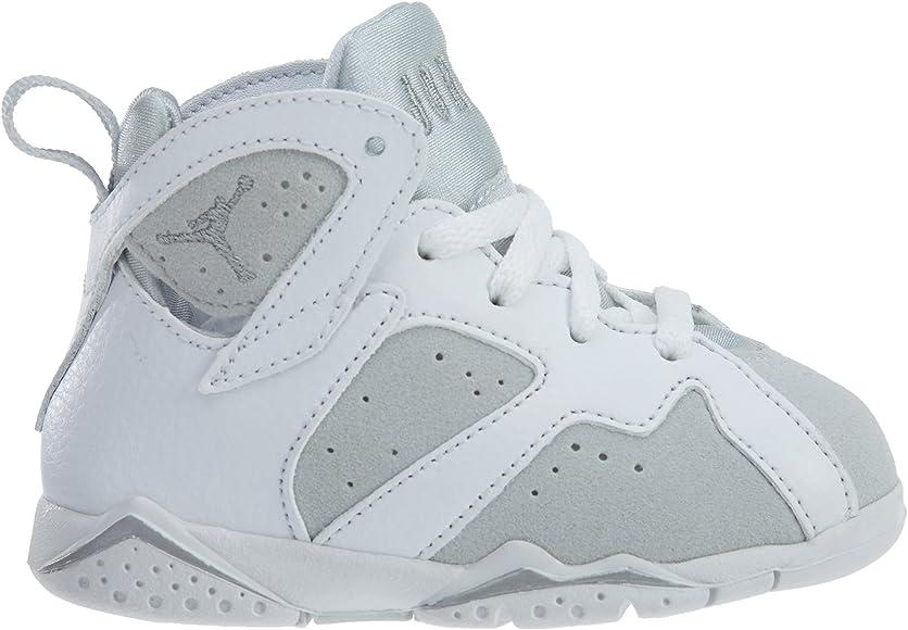 Jordan 7 Retro BT Toddler Shoes White//Metallic Silver 304772-120