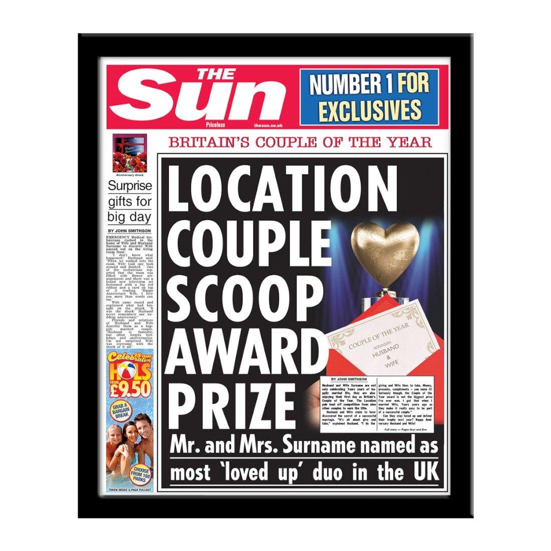 personalisierbar die Sonne Jahrestag Zeitung mit Foto modernes ...