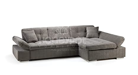 Terrific Honeypot Malvi Corner Sofa Bed With Storage All Grey Right Hand Pabps2019 Chair Design Images Pabps2019Com