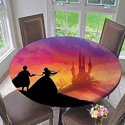 amazon com elasticized table cover of prince and princess magical rh amazon com elasticated table cover waterproof elasticized table cover oval
