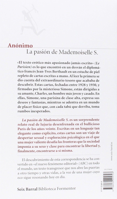 La pasión de Mademoiselle S. (Biblioteca Formentor): Amazon ...