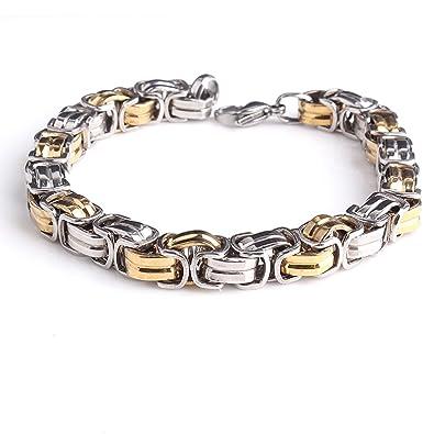 Conception innovante 6dbb4 8d440 Bracelet Homme Acier inoxydable bracelet chaîne BIKER Vélo ...