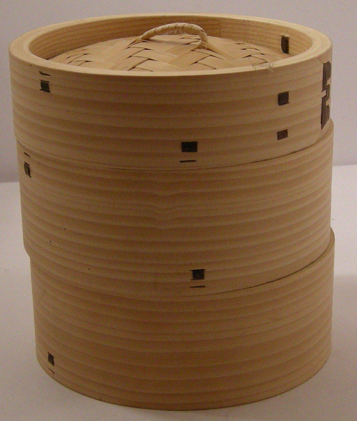 Dampfgarer - Bambus - 3-teilig - Ø 13 cm - hochwertig Cookware company