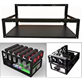 Open Air Miner Mining Frame Rig Case Up to 6 GPU BTC LTC ETH Ethereum Steel Coin