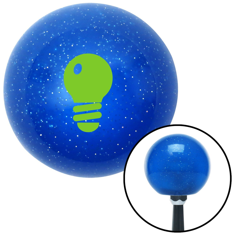 Green Light Bulb American Shifter 25399 Blue Metal Flake Shift Knob