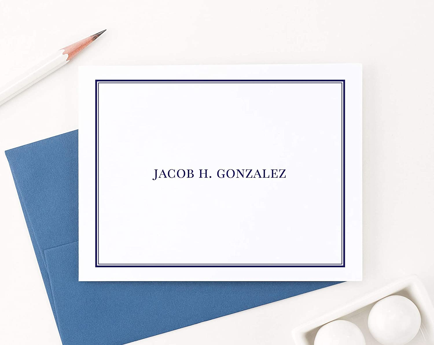 Personalized Stationery Set Folded note cards Stationery for women Personalized Note Cards,Your Choice of Colors and Quantity
