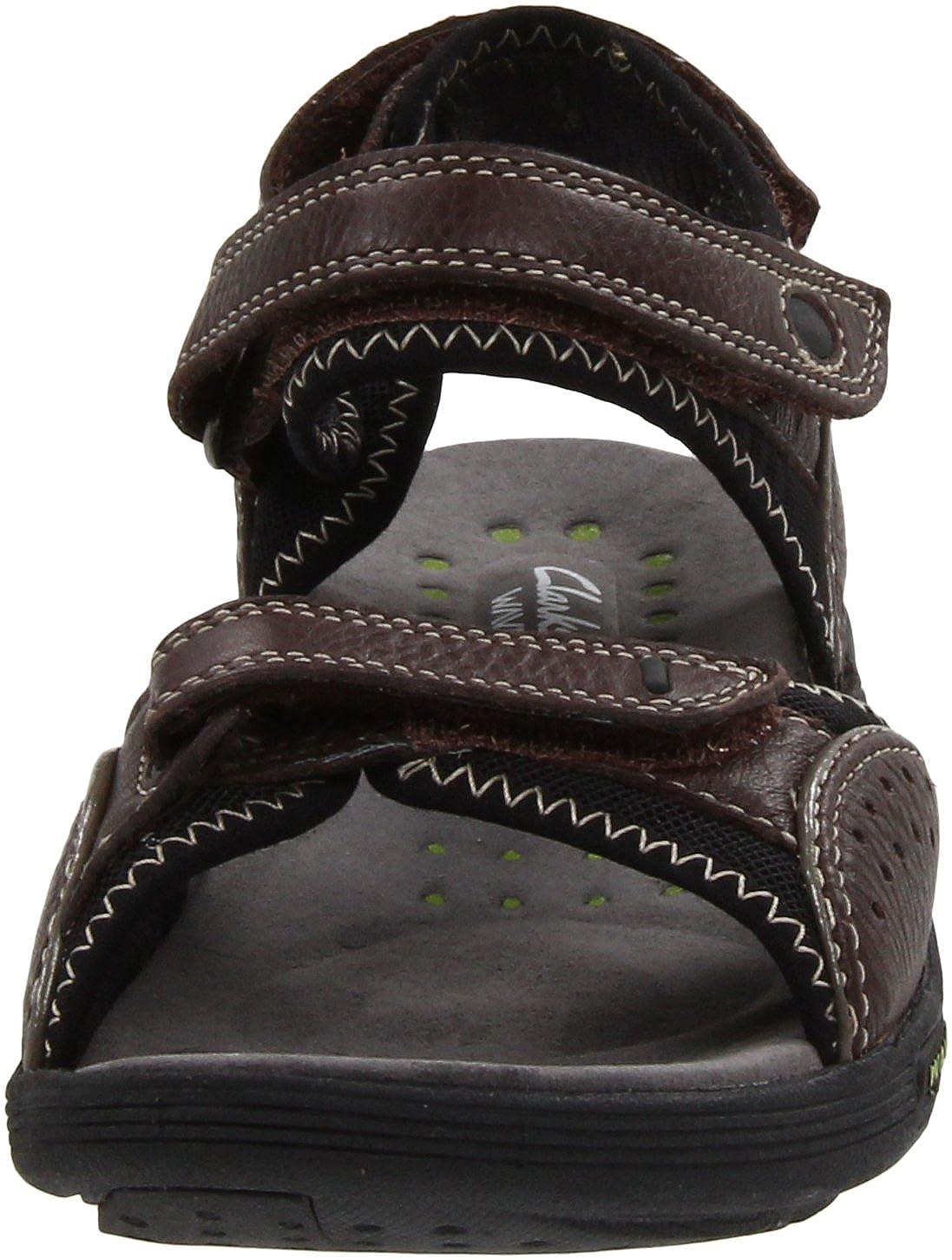 Amazon.com | CLARKS Women's Wave Current, Brown Leather, 5 M US | Sport  Sandals & Slides
