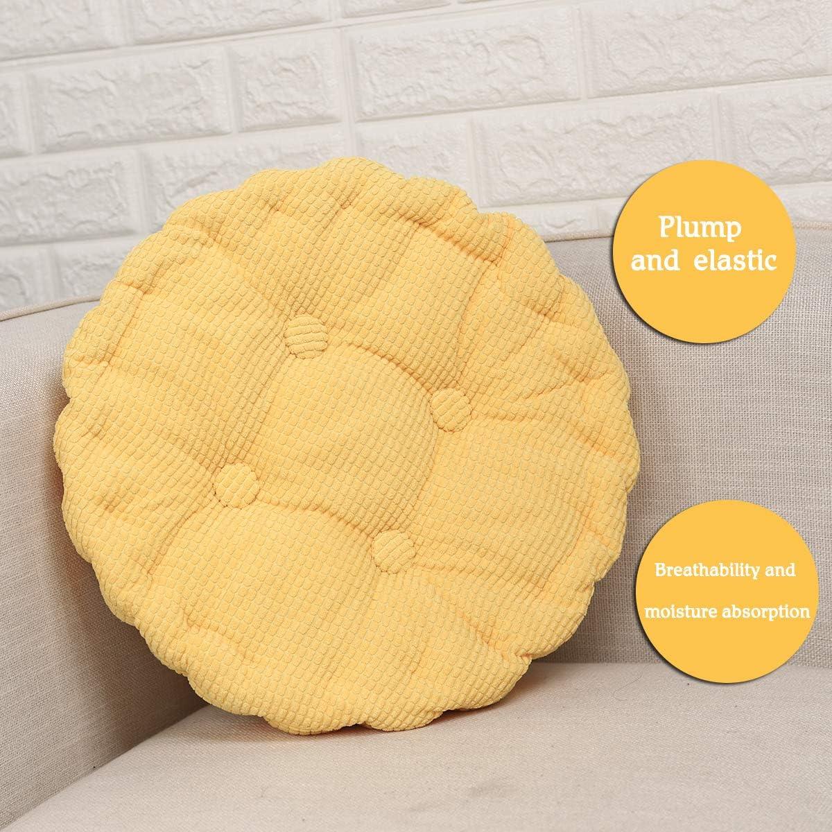 Coussin Decoration Chambre Coussin Chaise Jardin /Épais en Tatami Durable et Comfortable 40 x 40cm Orange HomeMiYN Coussin Rond