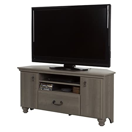 South Shore 10381 Noble Corner Stand-Fits TVs Up to 55 Wide-Gray Maple