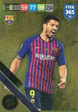 PANINI ADRENALYN XL FIFA 365 2019 - Tarjeta de edición Limitada Luis Suarez!!: Amazon.es: Deportes y aire libre