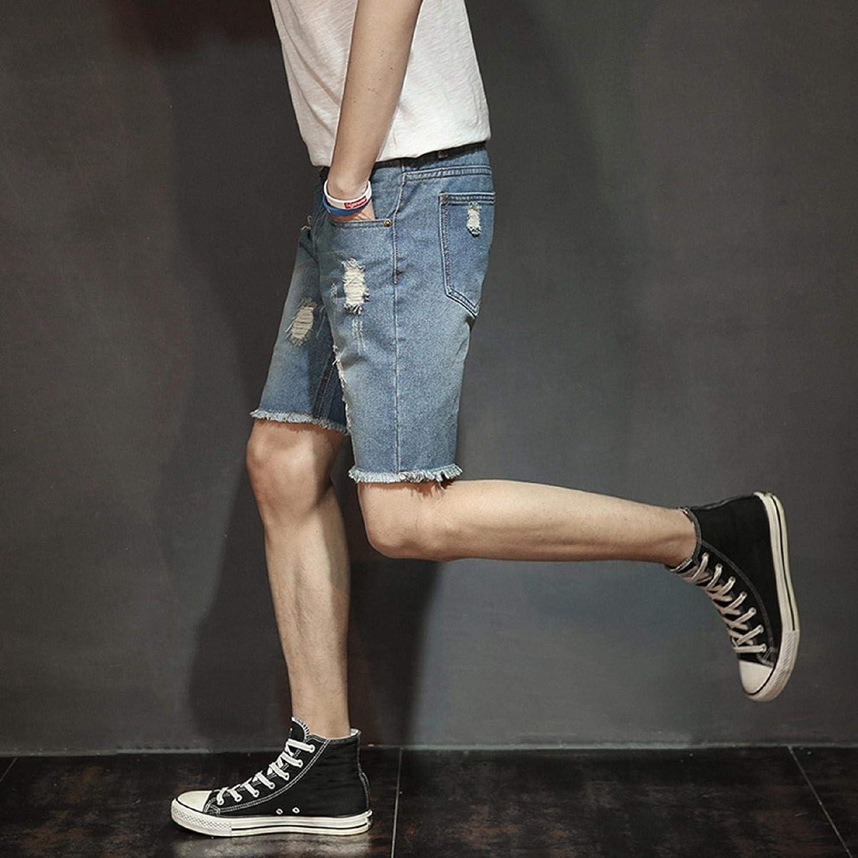 Stretch Regular Fit Distressed Ripped Jeans Summer Jeans Short Pants WQS001 Mens Hipster Hip Hop Denim Shorts