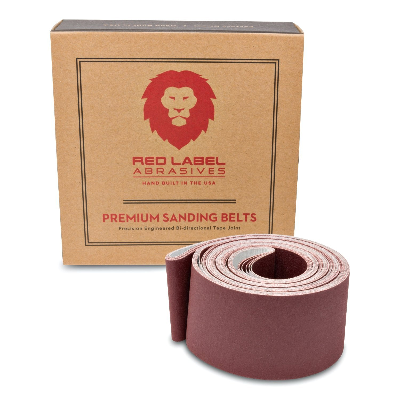 2 X 72 Inch 400 Grit Flexible Aluminum Oxide Multipurpose Sanding Belts, 6 Pack